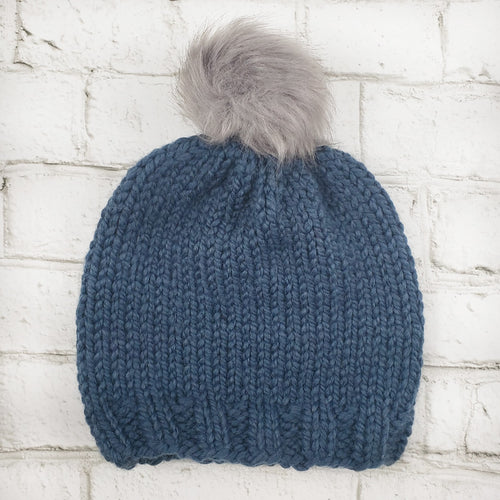 The Staple Beanie - Denim Blue