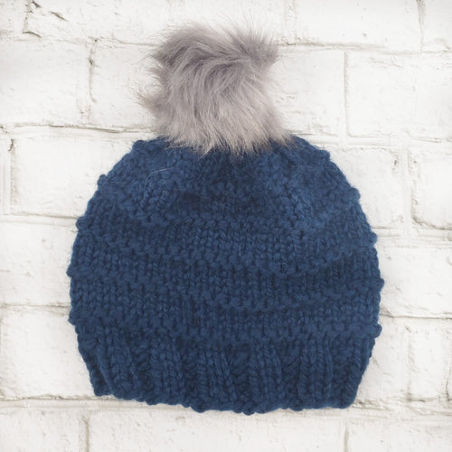 The Sugar Beanie - Dark Denim