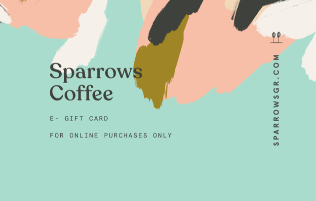 ONLINE GIFT CARD - Sparrows Coffee