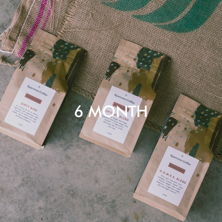Warm & Cozy - 6 Month Subscription - Sparrows Coffee