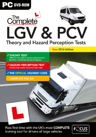 PC DVD-ROM The Complete LGV & PCV Theory Test