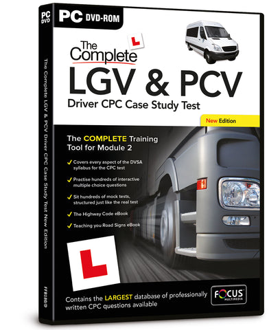 PC DVD-ROM The Complete LGV & PCV Driver CPC Case Study Test