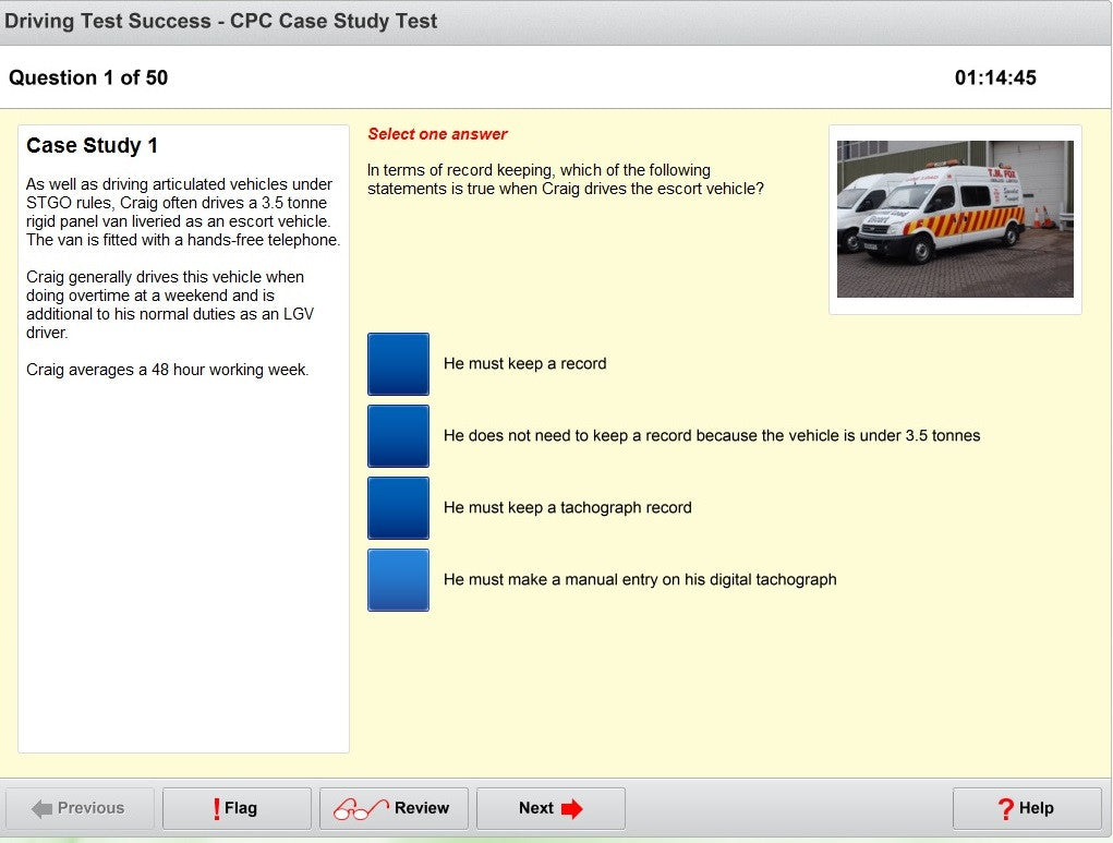 lgv cpc case study mock test