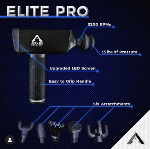 Apex Rx Recovery Massage Gun Elite Pro Model