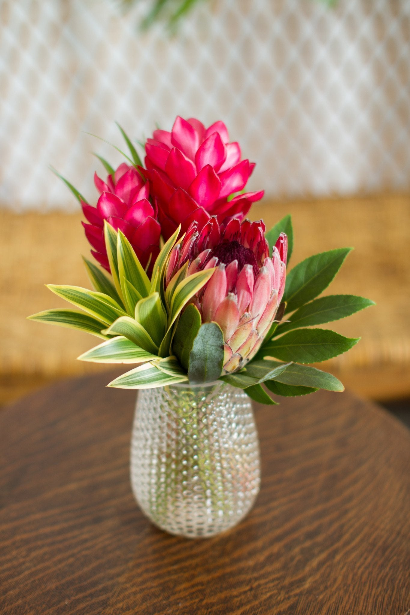 Centerpiece Pineapple Glass Vase (Small)