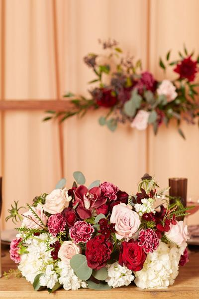 Archway and Sweetheart Arrangement