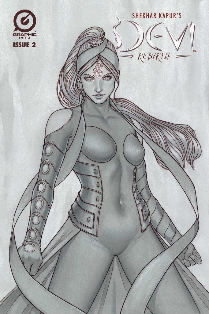 Devi: Rebirth - Limited Edition Pencil Sketch Cover (Jenny Frison) #2
