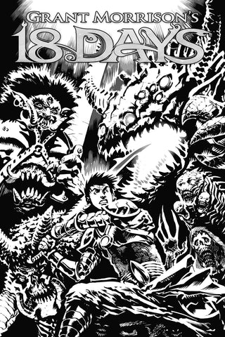 18 Days -#20 Limited Edition Black and White Sketch Cover (Francesco Biagini)