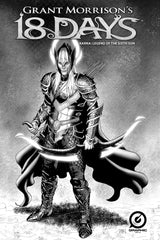"GRANT MORRISON'S 18 DAYS – KARNA: LEGEND OF THE SIXTH SON – BATTLE ARMOR"" B&W VARIANT COVER C"