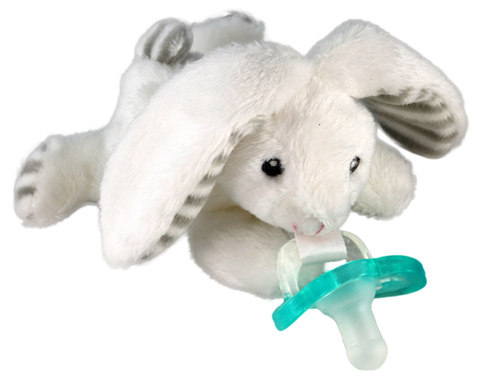 RaZbuddy Paci Holder - JollyPop Pacifier - Coco Bunny