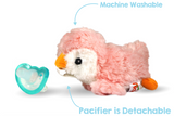 RaZbuddy Paci Holder - JollyPop Pacifier - Pink Penguin