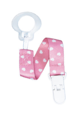 Pacifier Holder Pink Hearts
