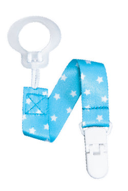 Pacifier Holder Blue Stars