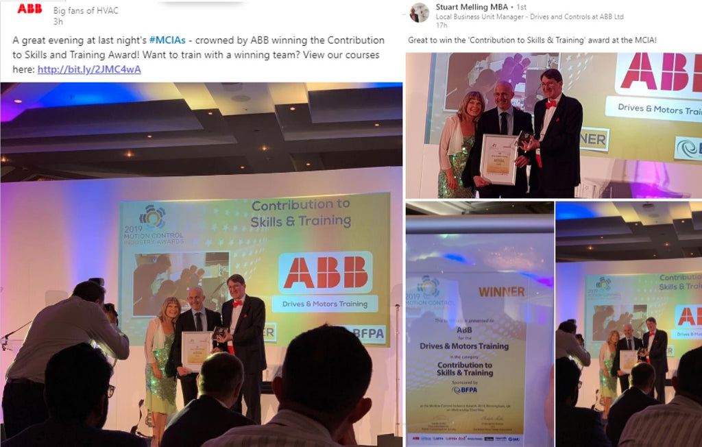 ABB WINS DRIVE AND MOTORS TRAINING AWARD