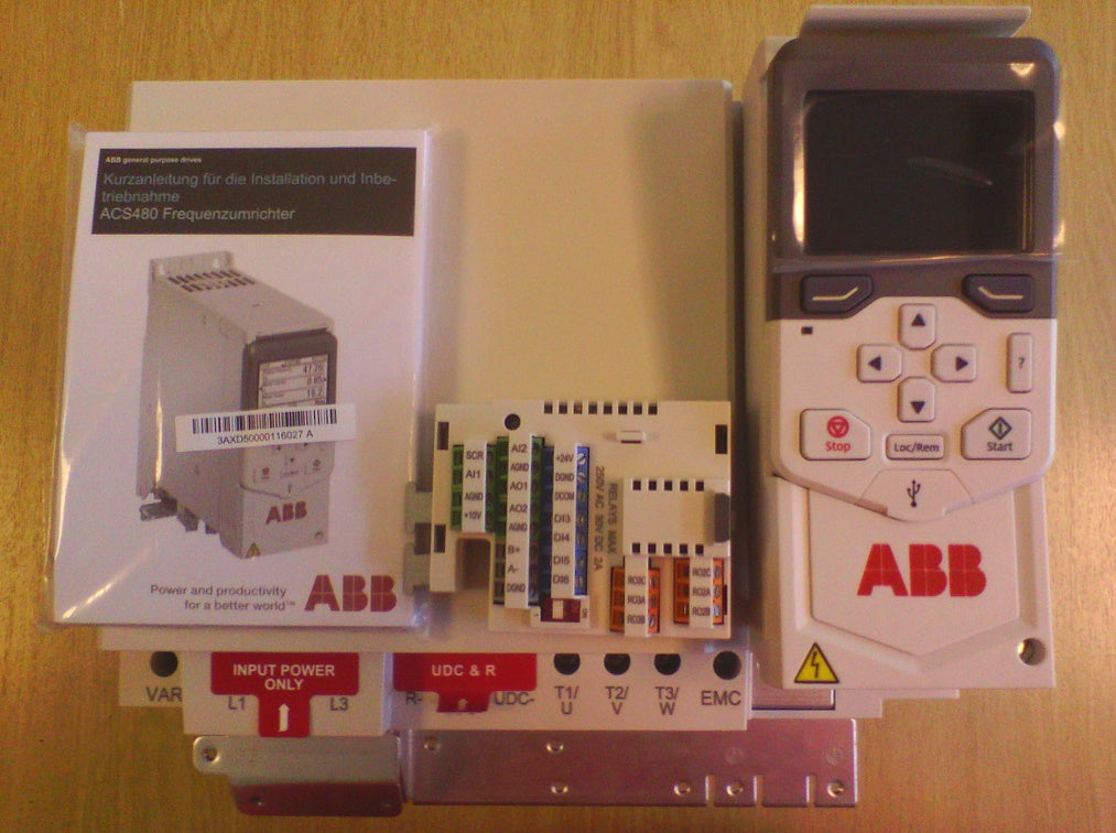 ABB ACS480 series range of variable speed drives
