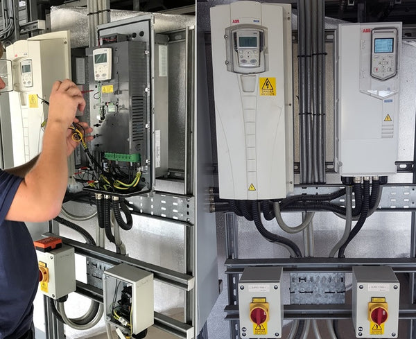 installation of an ABB ACH580 inverter