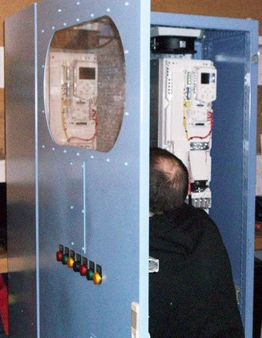 EDC engineer inspecting panel retrofit