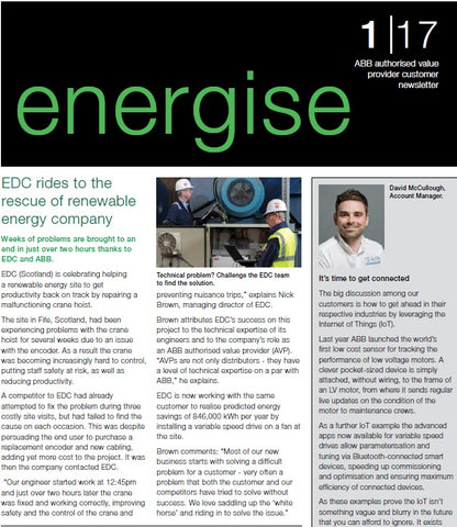 ENERGISE ABB's authorized value provider customer newsletter