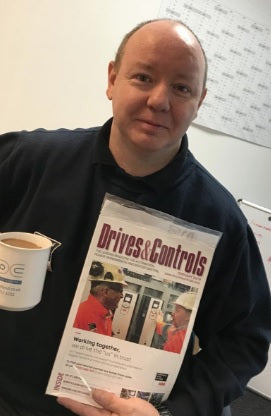 edc makes front cover of drives and control magazine