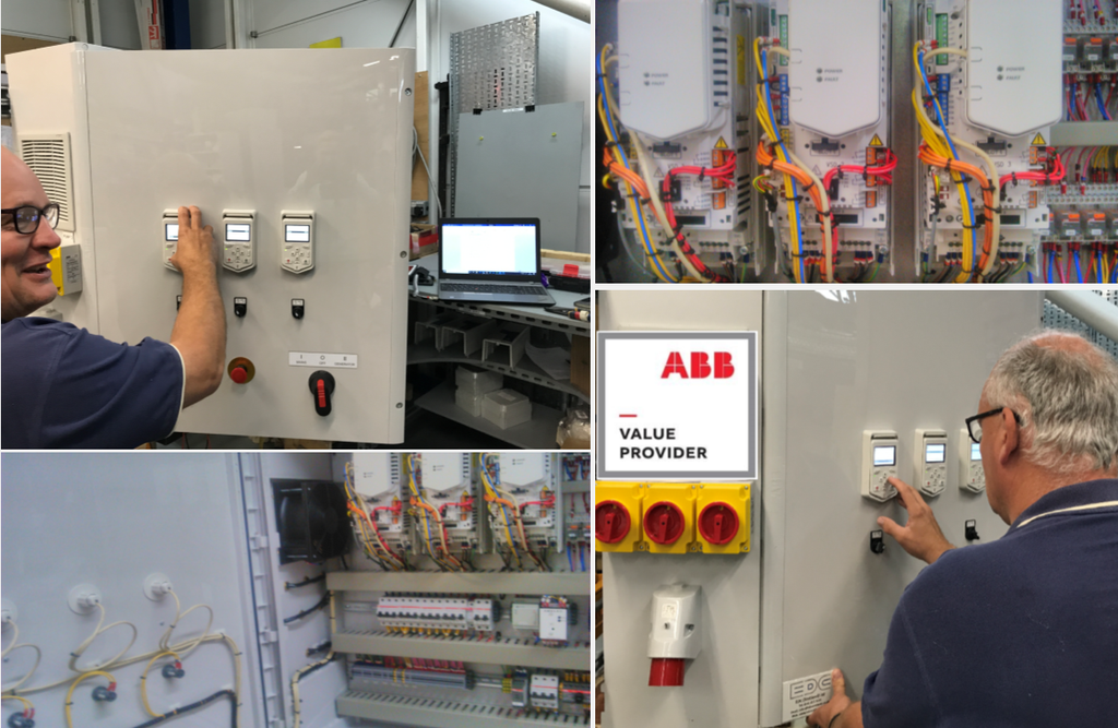 ACQ580 abb panel build at EDC Scotland to combat water transients