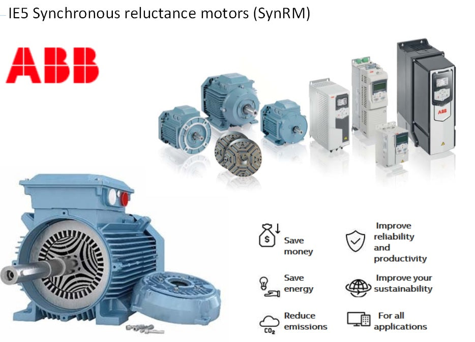 ABB IE5 SynRM notors from your ABB motor Value Provider