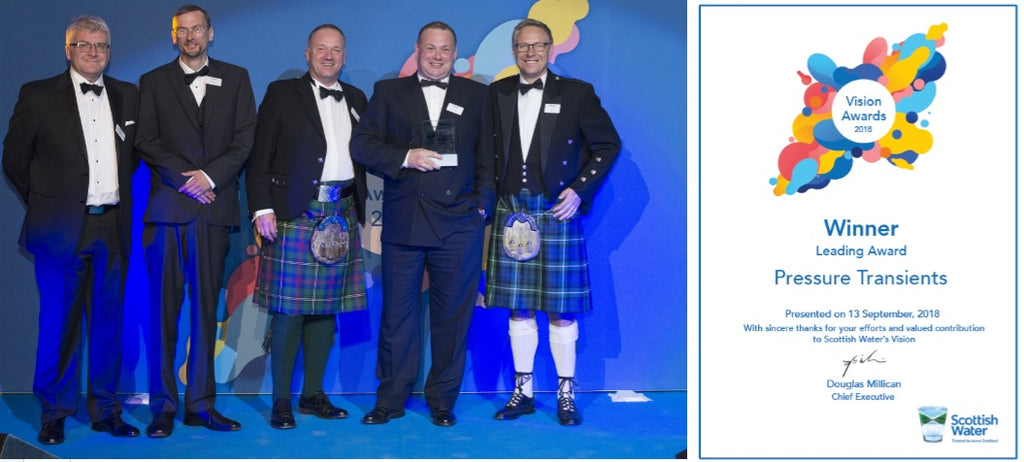 Scottish Water Vision awards for pressure transients