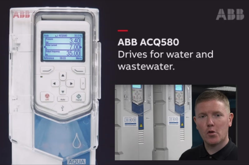 abb's ACQ580 drive for the water and wastewater industry