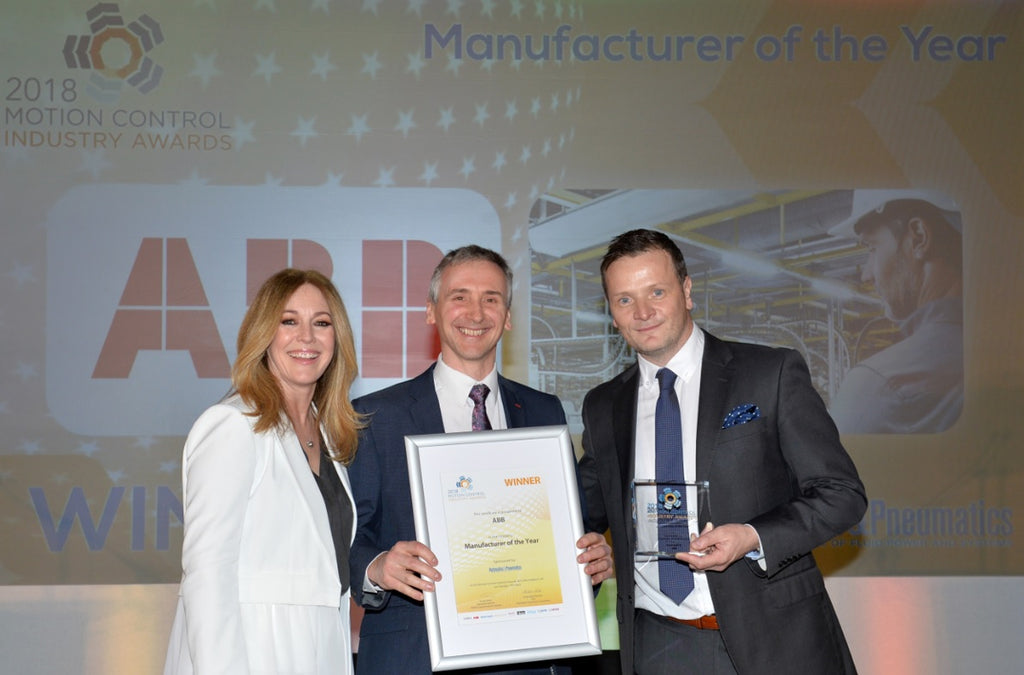 ABB wins Manufacturer of the Year at Motion Controls Industry Award 2018