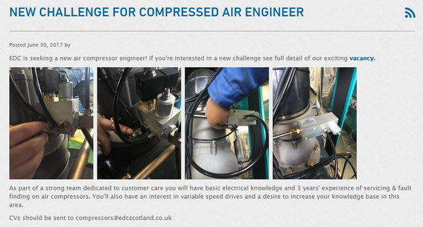 vacancy - compressed air engineer