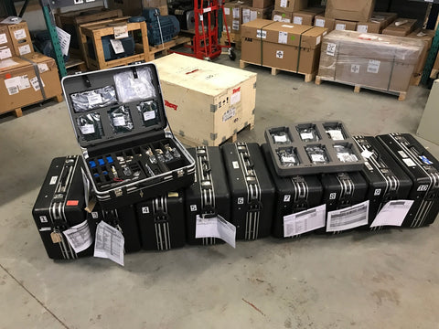 abb service suitcases held by EDC NE
