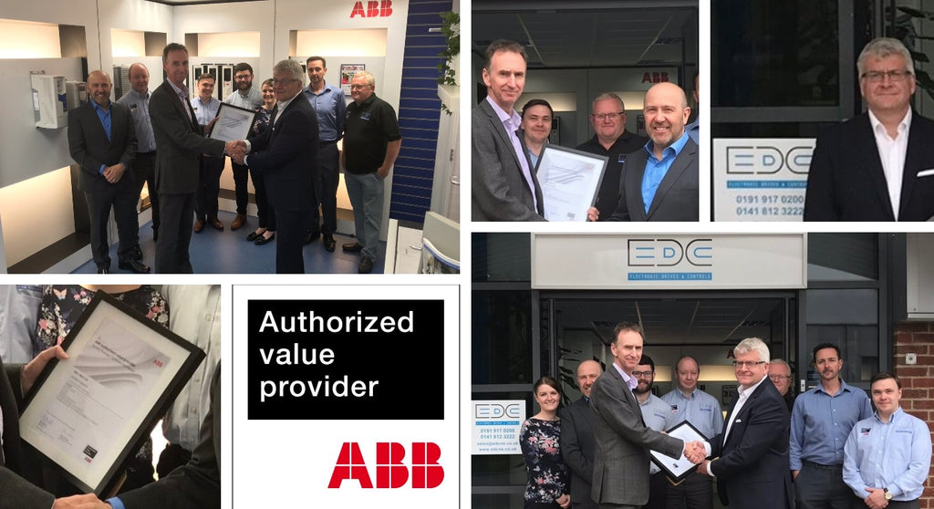 EDC (North East) wins ABB AVP status for north east England for variable speed drives