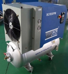 permanent magnet variable speed drive controlled screw air compressor
