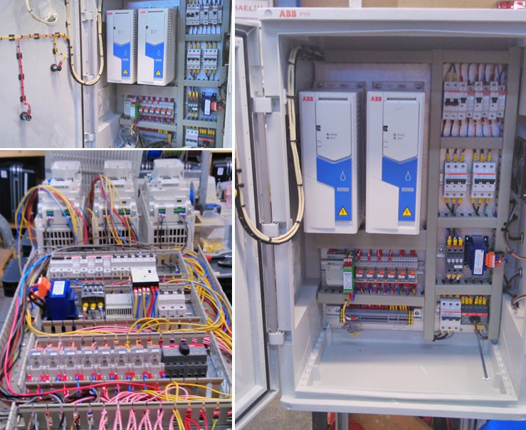 ABB ACQ580 drives in panel