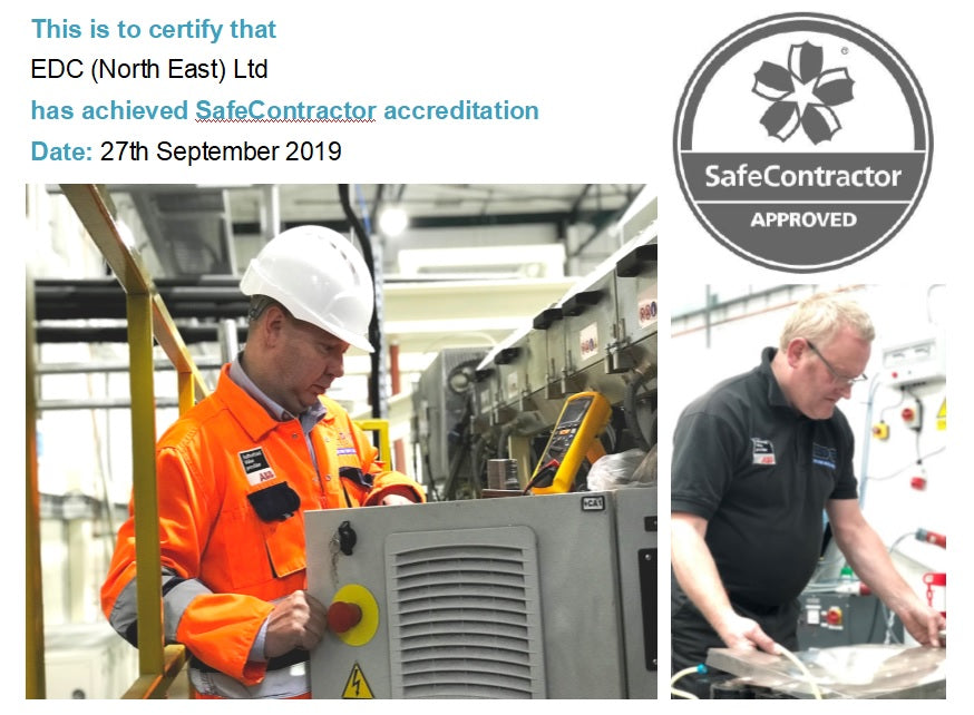 EDC NORTH EAST WINS SAFE CONTRACTOR ACCREDITATION
