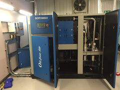 oil free air compressor installation