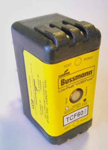 TCF60 BUSSMANN TIME DELAY CUBE FUSE 60amp
