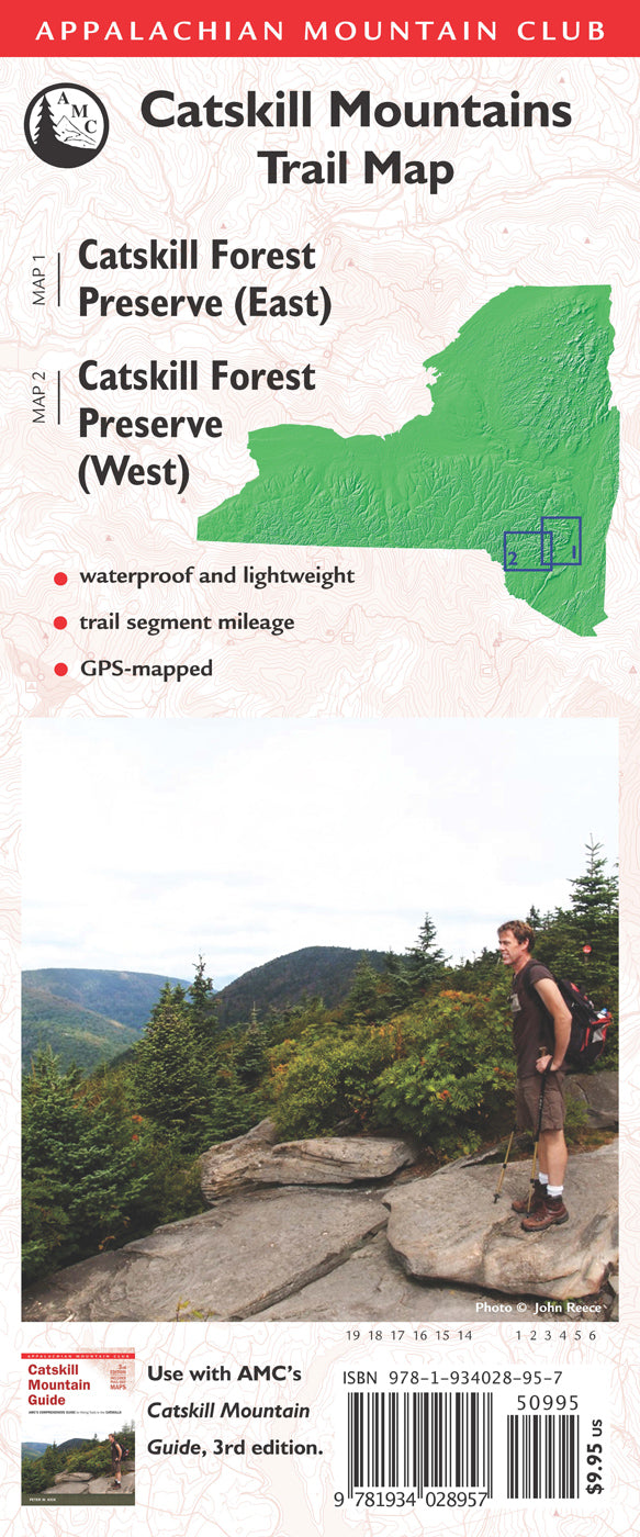 Catskill Mountain Trail Map, 3rd edition