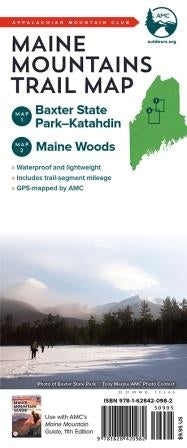 Maine Mountain Trail Map 1 & 2 - Baxter State Park - Katahdin and Maine Woods