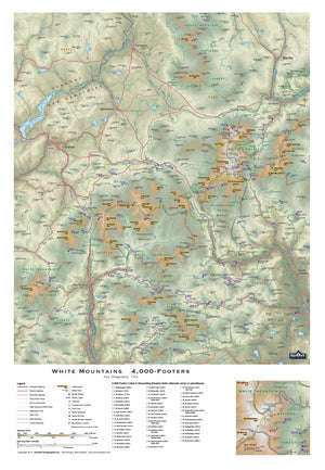 Mount Jefferson New Hampshire Topographic Map White Mountains NH 4000 Footers