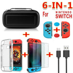 6 in 1 game accessory set in 3 colours for Nintendo Switch.