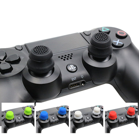 2 pcs Silicone Analog Grip Thumbstick For PlayStation 4