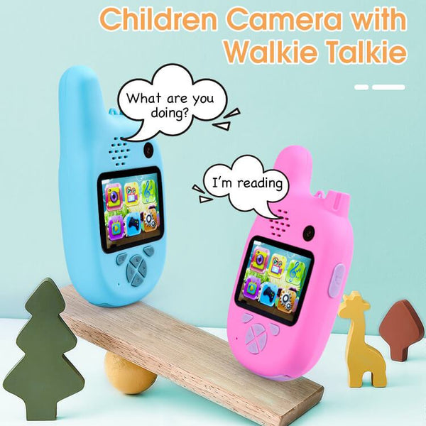 Kids Walkie Talkie (Set of 2) with Camera