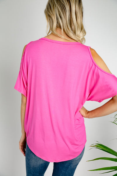 Short Sleeve T in Hot Pink