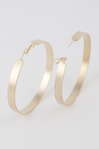 Gold hoops Large