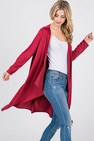 Women's Red Cardigan