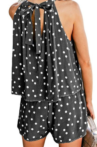 Black Polka-dot Romper