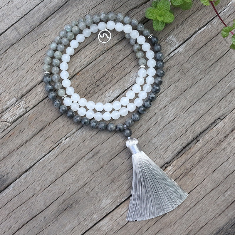 Poise 清 Labradorite Mala Necklace