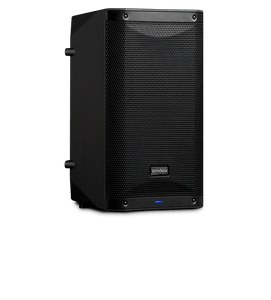 "Front left angled view of PreSonus Air10 1200W 10"" Powered Speaker"