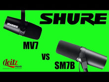 Load and play video in Gallery viewer, Shure MV7 USB Podcast Microphone