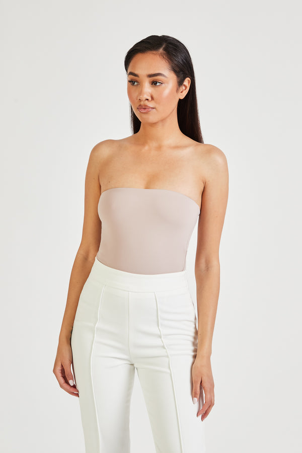 Strapless Bodysuit - Taupe